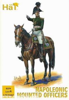 Napoleonische Offiziere zu Pferd