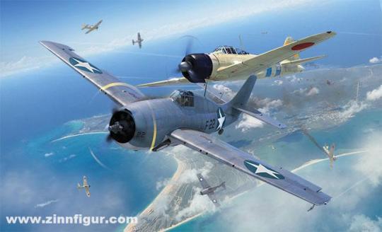 Grumman F4F-4 Wildcat & Mitsubishi Zero - Dogfight Double