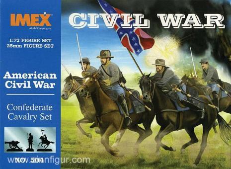 Konföderierte Kavallerie - Amerikanischer Bürgerkrieg