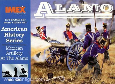 Mexikanische Artillerie bei Alamo