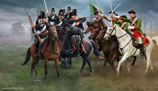 Österreichische Dragoner & Preußische Husaren - Siebenjähriger Krieg
