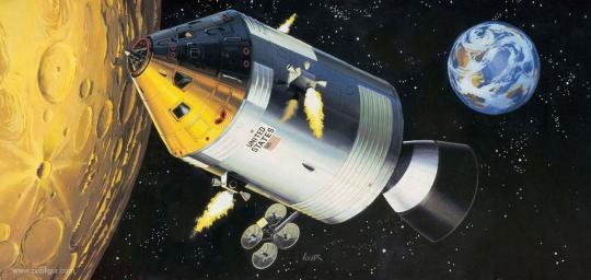 Spacecraft mit Innendetails - Apollo 11
