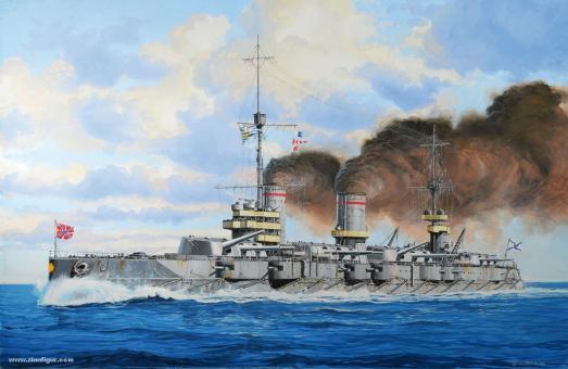 Russisches Schlachtschiff Gangut - 1. Weltkrieg