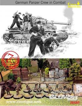 Deutsche Panzersoldaten im Gefecht