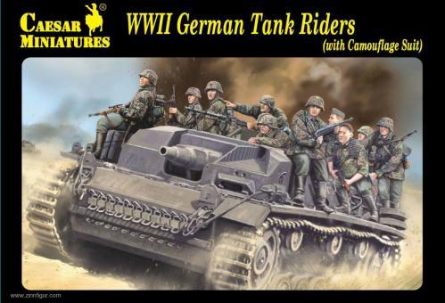 Deutsche Panzeraufsitzer mit Tarnuniformen - 2. Weltkrieg