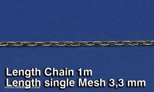 Metal Chain (A) Length single Mesh 3,3 mm