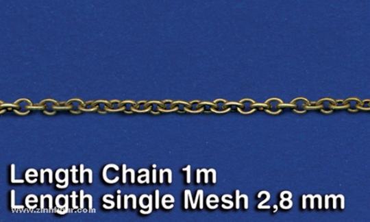 Metal Chain (E) Length single Mesh 2,8 mm