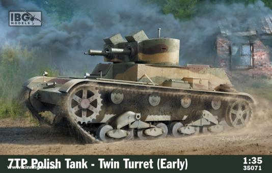 7TP Zwillingsturm-Panzer - frühe Produktion
