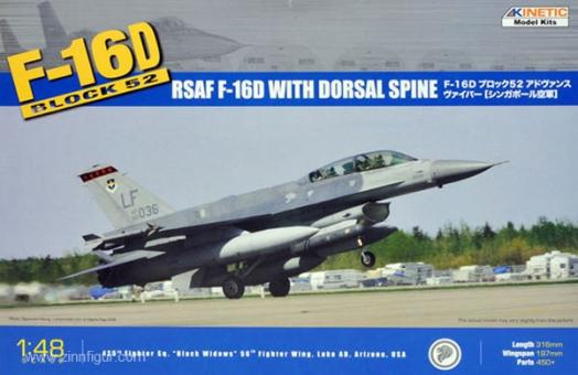 F-16D Block 52 RSAF mit Dorsal Spine