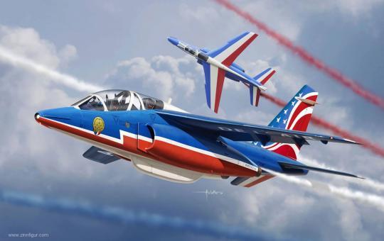 """Alpha Jet """"Patrouille de France 2017"""""""