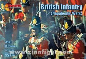 Britische Infanterie bei Waterloo