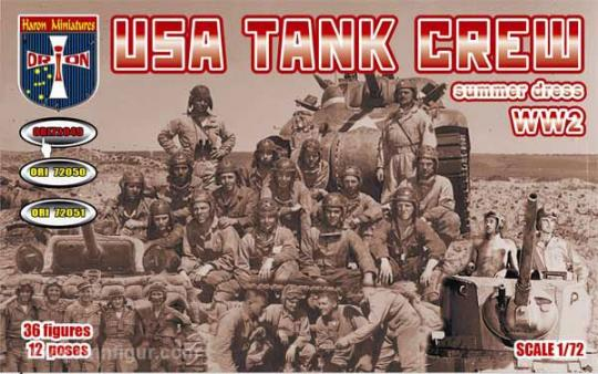 US Panzersoldaten in Sommeruniform - 2. Weltkrieg