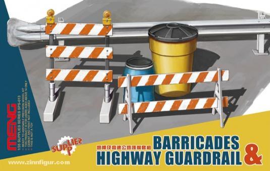 Barrikaden und Leitplanke