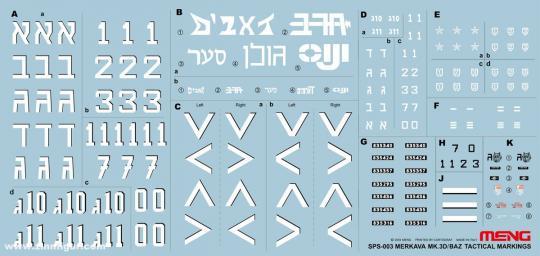 Merkava Mk.3D/BAZ Taktische Zeichen