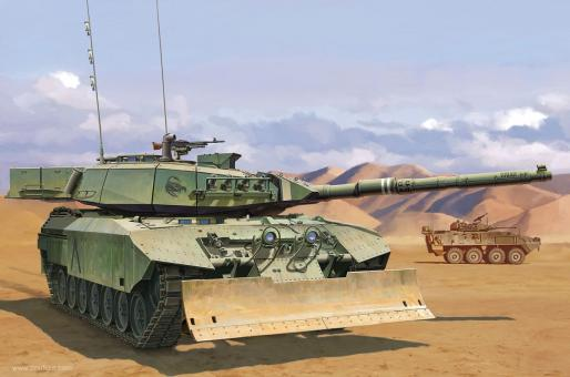 Leopard C2 MEXAS with Dozer Blade