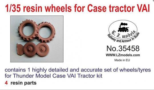 Resin Räder für US Army Traktor Case VAI