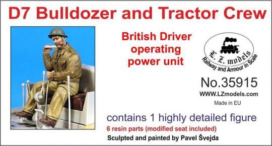 Britischer Fahrer am Antrieb arbeitend