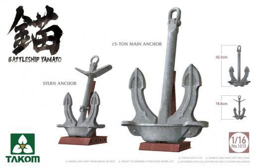 Battleship Yamato Main and Stern Anchors