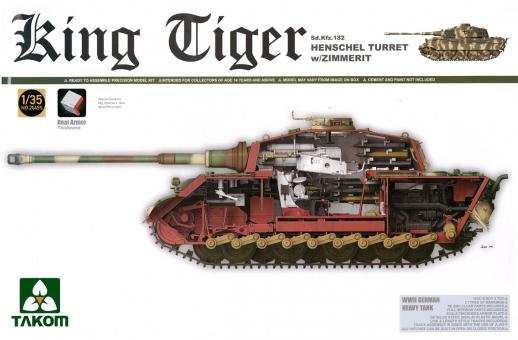 King Tiger Sd.Kfz. 182 with Henschel Turret and Zimmerit - Special Edition