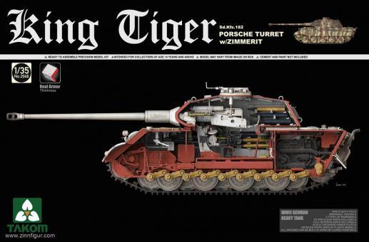 King Tiger Sd.Kfz.182 Porsche Turret with Zimmerit