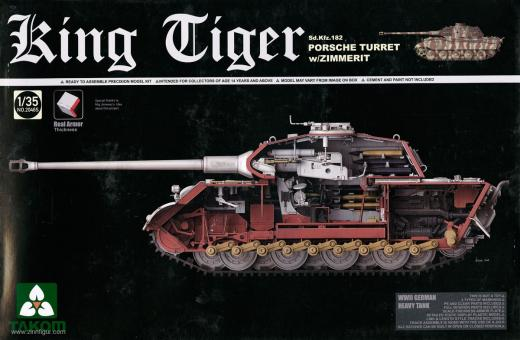 King Tiger Sd.Kfz. 182 with Porsche Turret and Zimmerit - Special Edition