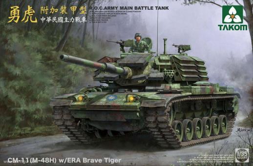CM-11 (M-48H) Brave Tiger Tank with ERA R.O.C. Army
