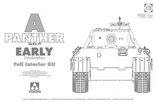 Panther Ausf.A früh mit Innendetails