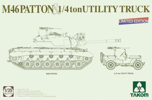 US M-46 Patton & 1/4 ton Utility Truck