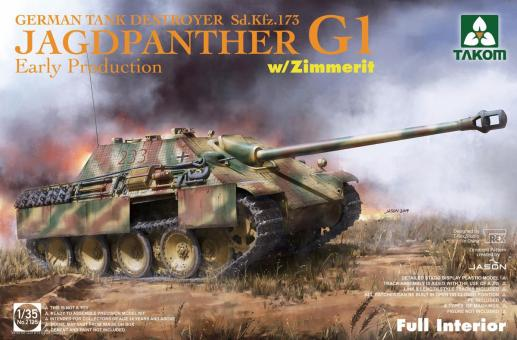 Jagdpanther G1 Early with Zimmerit - Full Interior