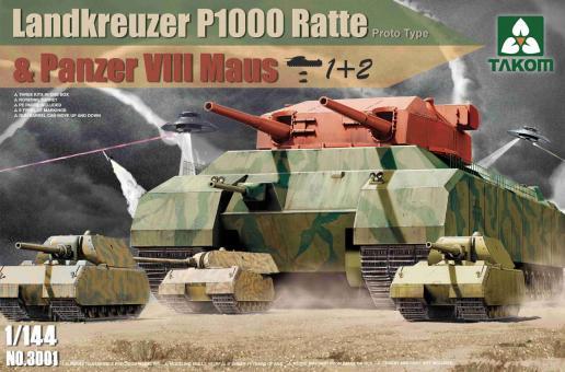 Landkreuzer P 1000 Ratte & Panzer VIII Maus Combo