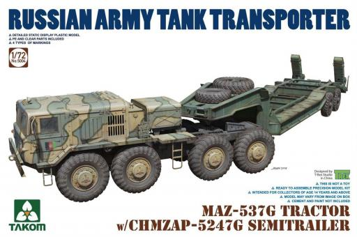 MAZ-537G Tractor with CHMZAP-5247G Trailer