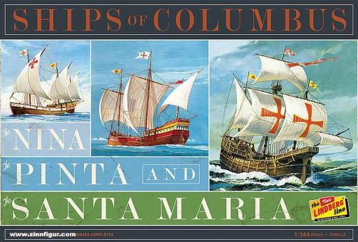 Kolumbus-Flotte: Nina - Pinta - Santa Maria