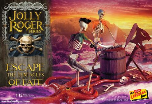 """Piratenskelett """"Escape the Tentacles of Fate"""" - Jolly Roger Series"""