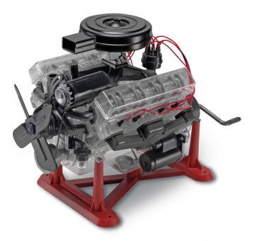 Transparenter V-8 Motor