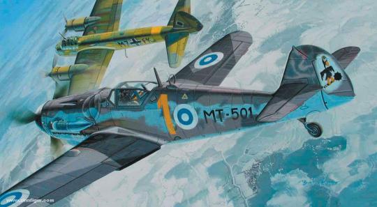 """Bf 109G-6 """"Suomen Ilmavoimien"""""""
