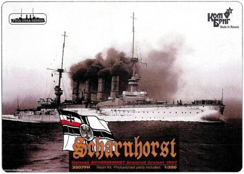 Großer Kreuzer Scharnhorst - 1907 - Wasserlinienmodell