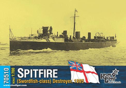 HMS Spitfire - Swordfish-Class Destroyer - 1895