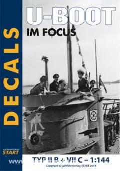 """Decals II B + VII C """"U-Boot im Focus Edition 2-11"""""""
