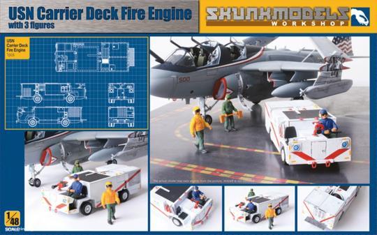 US Navy Carrier Deck Fire Engine