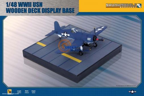 WWII USN Wooden Flight Deck Display Base