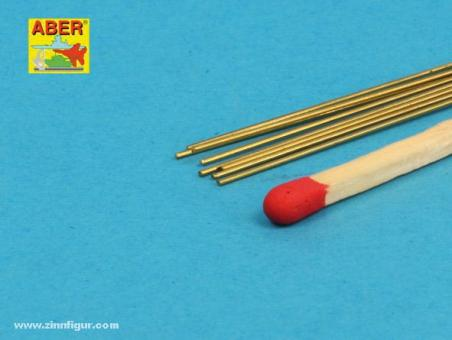 Brass Round Rods 0,5mm lenght 250mm x 8 pieces