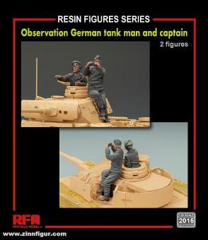 Panzerkommandant und Soldat mit Fernglas