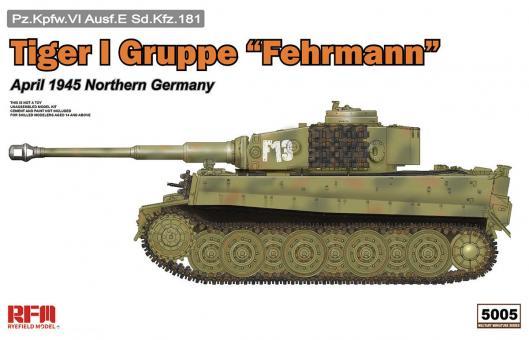 """Tiger I Gruppe """"Fehrmann"""" - Norddeutschland April 1945"""