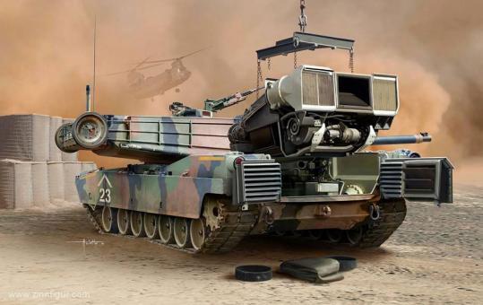 M1A1/A2 Abrams mit Innendetails