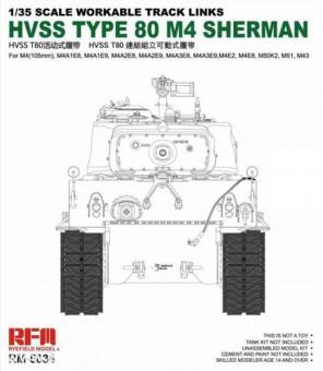 HVSS T80 M4 Sherman Panzerketten