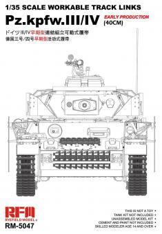 Panzer III/IV frühe Produktion Panzerketten 40cm