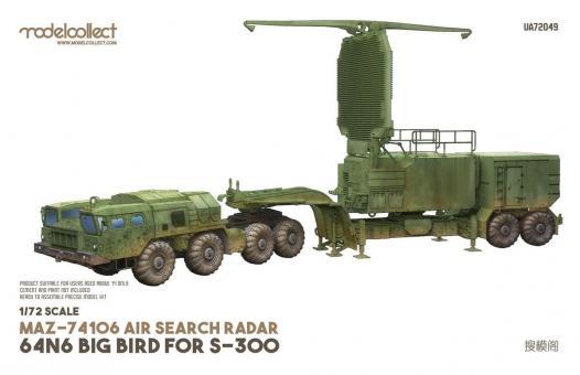 MAZ-74106 Luftüberwachungsradar 64N6 für S-300 Big Bird