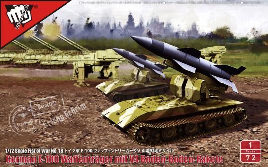 """V4 Kurzstreckenrakete auf Waffenträger E-100 """"Fist of War"""""""