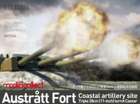 Austratt Fort Küstenartillerie 28cm Turm Caesar
