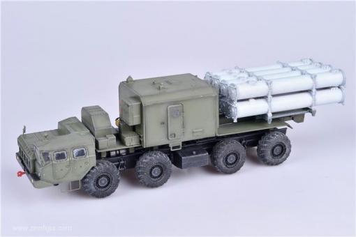 Bal-E Küsten-Raketenwerfer mit Kh-35 Anti-Schiffs-Raketen auf frühem MAZ Chassis